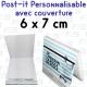 Post-it avec couverture personnalise 68x75mm
