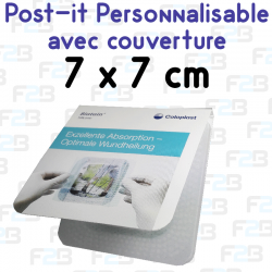 Post-it avec couverture personnalise 75x75mm