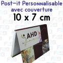 Post-it avec couverture personnalisés 100x75mm