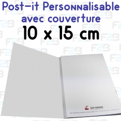 Post-it avec couverture personnalise grand format A6