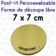 Post-it avec decoupe speciale 75x75mm