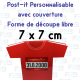 Post-it decoupe speciale avec couverture 75x75mm