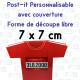 Post-it decoupe speciale avec couverture 75x75mm