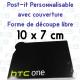 Post-it personnalisé forme spéciale avec couverture 100x75mm