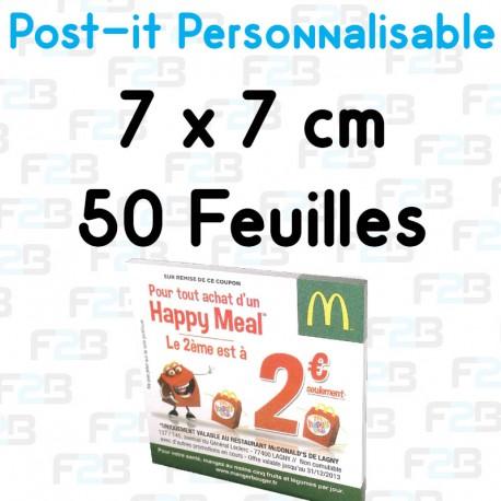 Post-it Personnalisé 7x7 cm 50 feuilles Marque Fabrik2blocs