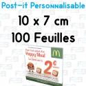 Post-it Personnalisé 10x7 cm 100 feuilles Marque Fabrik2blocs