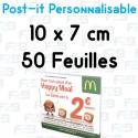 Post-it Personnalisé 10x7 cm 50 feuilles Marque Fabrik2blocs