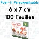 Post-it Personnalisé 6x7 cm 100 feuilles Marque Fabrik2blocs