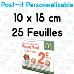 Post-it Personnalisé 10x15cm 25 feuilles Marque Fabrik2blocs