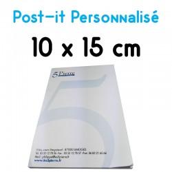 bloc post-it publicitaire personnalisé imprimé 10x15 A6 grand format