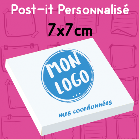 Post-it personnalise carré notes repositionnables