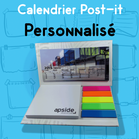 Calendrier de bureau Post-it personnalisé