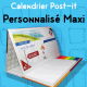 Calendrier de bureau Post-it Maxi personnalisé