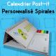 Calendrier de bureau Post-it Maxi a spirales personnalisé