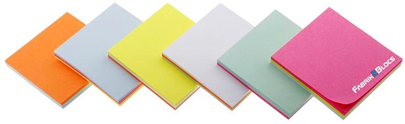 Toutes les couleurs de papier post it personnalisé