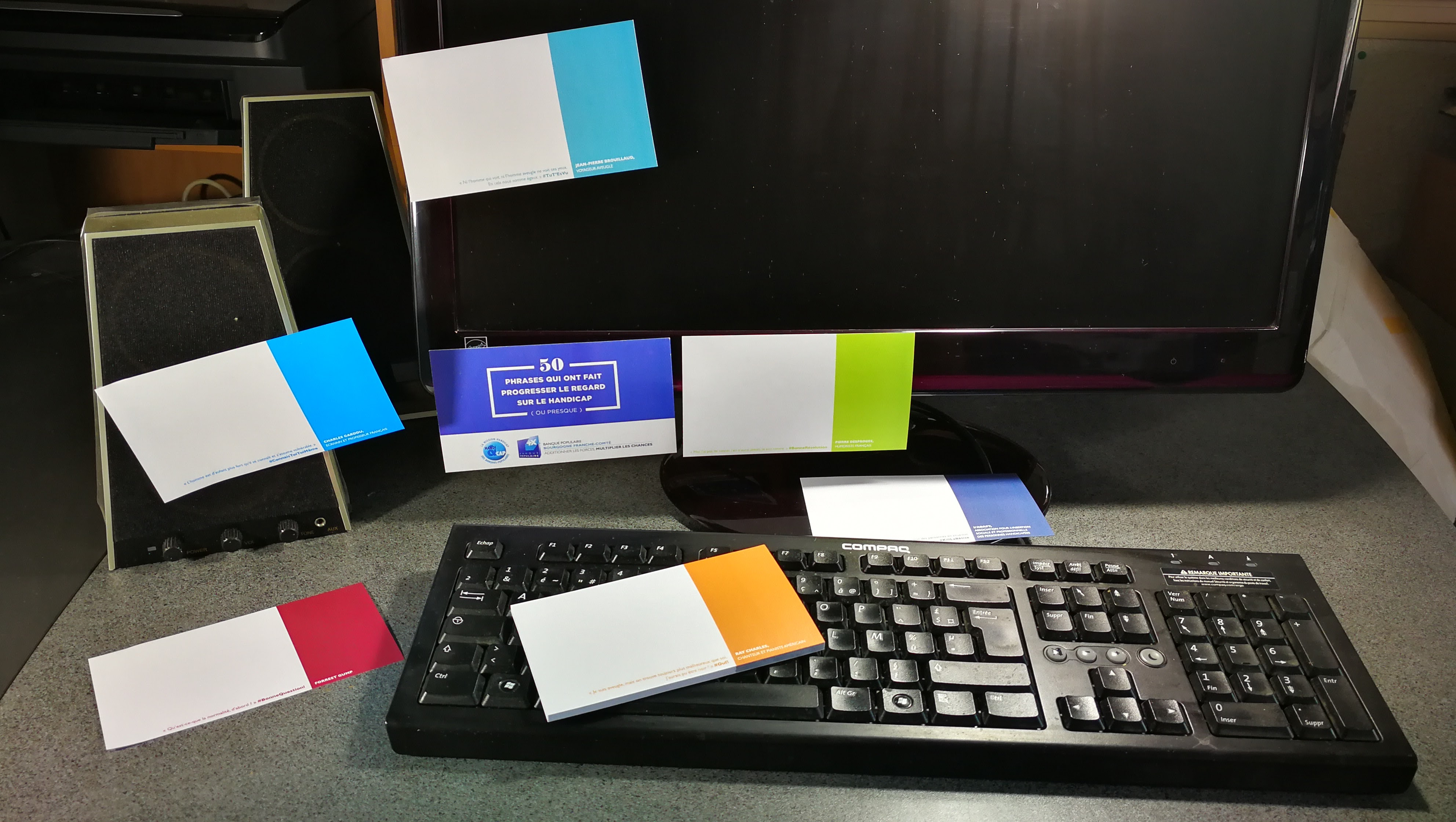 post it imprimé alterné banque populaire
