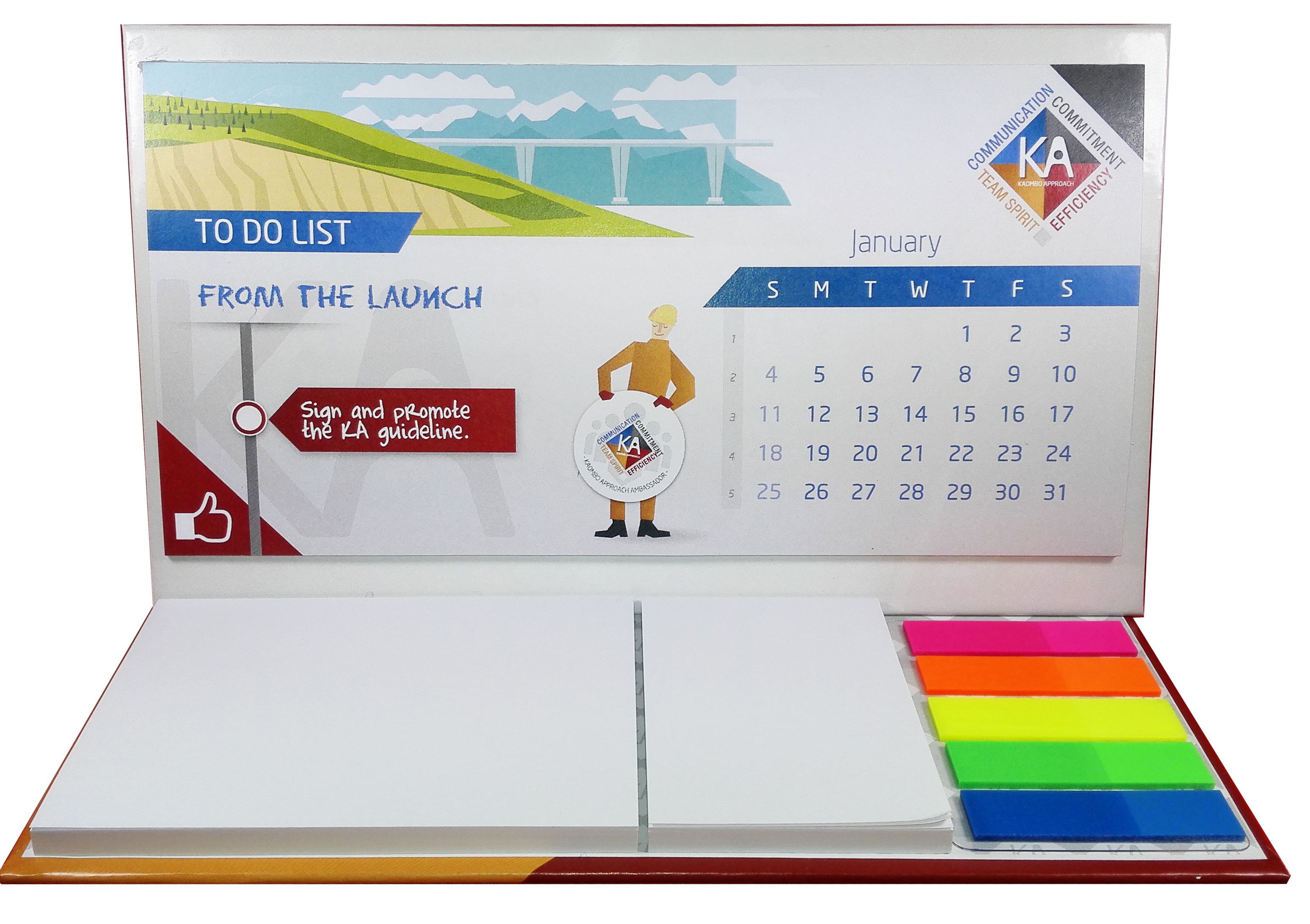Grand calendrier post-it personnalisé Maxi
