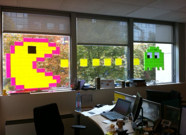 Post it pacman fenetre