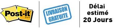 Logo-delai-livraison-post-it-3M-personnalisé
