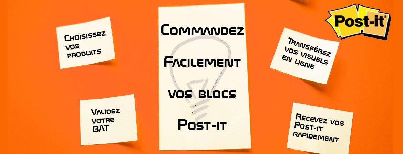Commandez facilement vos post-it personnalisés