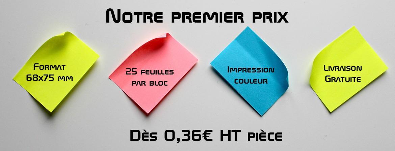 post-it personnalisé 68x75mm