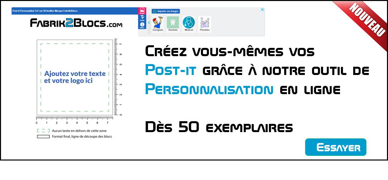 Personnalisation en ligne de vos post it