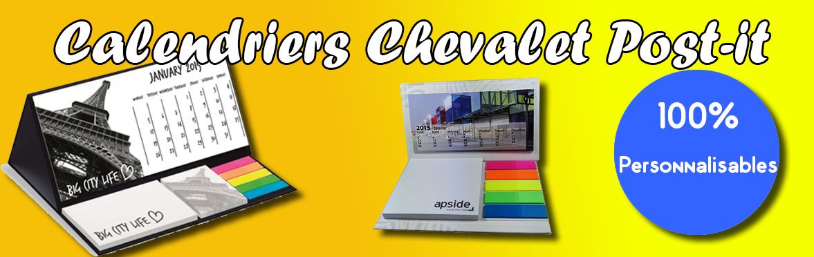 Calendrier Chevalet Post-it personnalisés